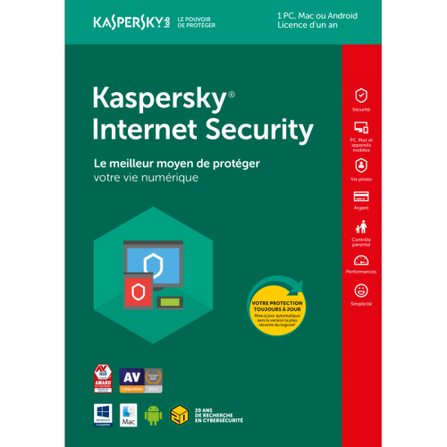 Kaspersky Internet Security OEM - 1 Poste