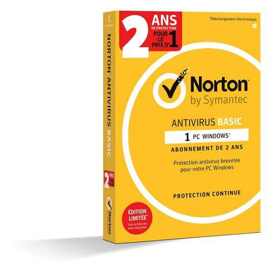 Norton Antivirus Basic 2019 - 1 Appareil - 2 ans