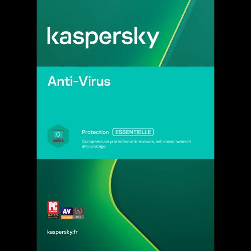 Kaspersky Antivirus Mise à jour 2020 (1,3,5 Postes)