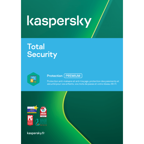Kaspersky Total Security 2019 Mise à jour (1,3,5 Postes)