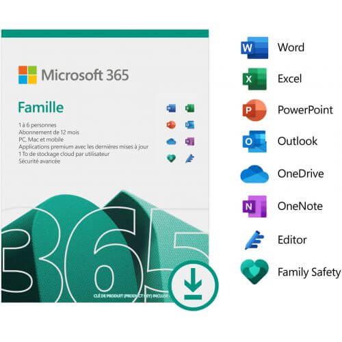 Licence Pack Office Office 365 Famille