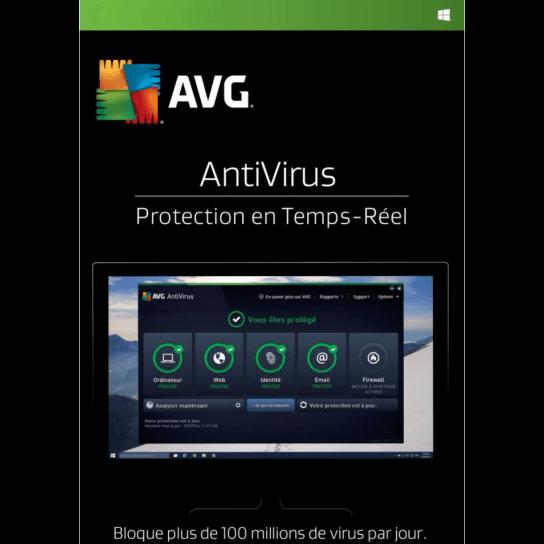 AVG Antivirus 2018 (1,3 Postes)