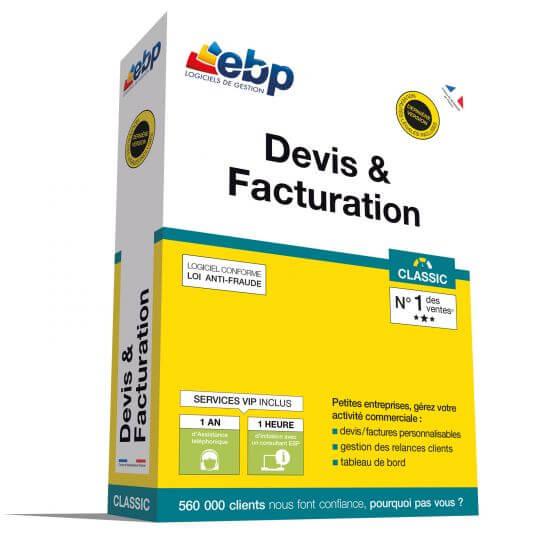 EBP Devis et Facturation Classic 2018 + Services VIP
