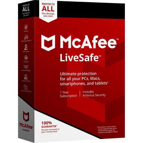 Mcafee LiveSafe 2018 (Appareils illimité)