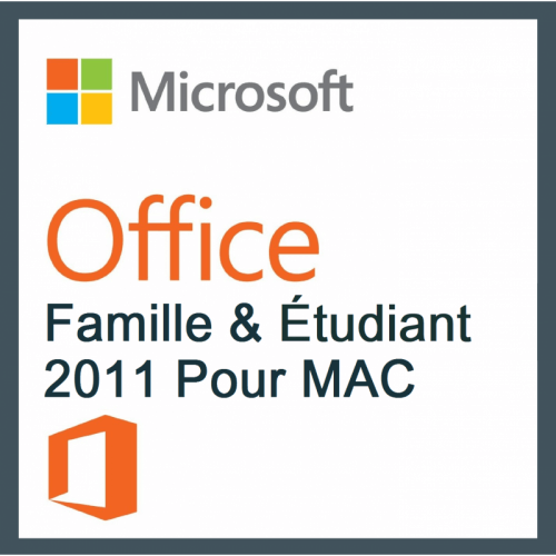 Microsoft Pack Office Famille et Etudiant 2011 Pour MAC
