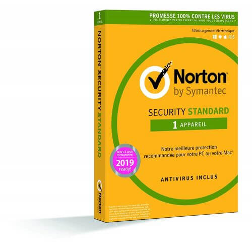 Norton Security 2019 Standard - 1 Postes