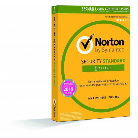 Norton Security 2019 Standard - 1 Postes