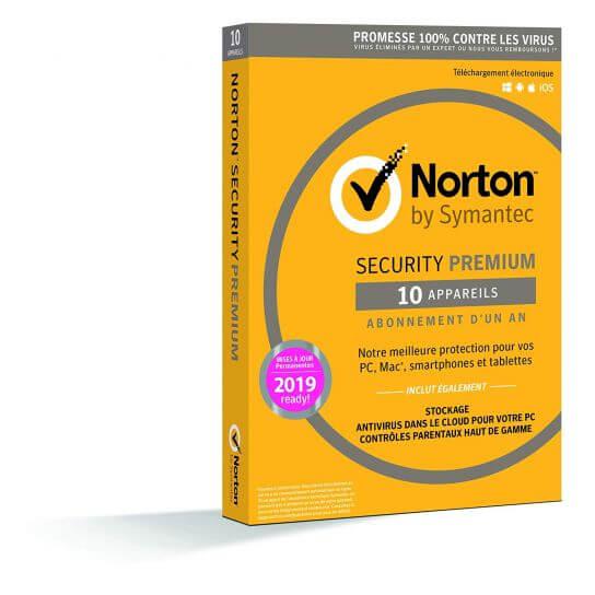 Norton Security 2019 Premium - 10 Postes