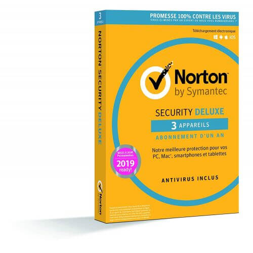Norton Security 2019 Deluxe - 3 Postes