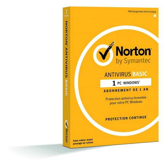 Norton Antivirus Basic 2018 - 1 Poste