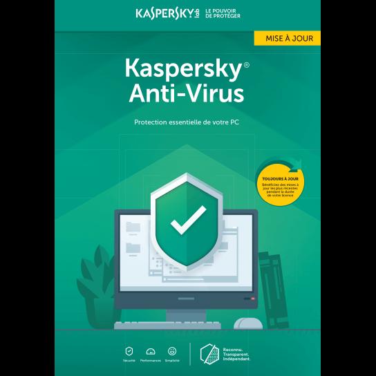 Kaspersky Antivirus Mise à jour 2019 (1,3,5 Postes)